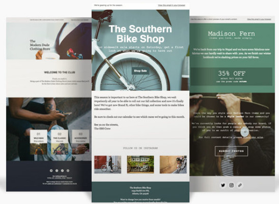 mailchimp email template examples
