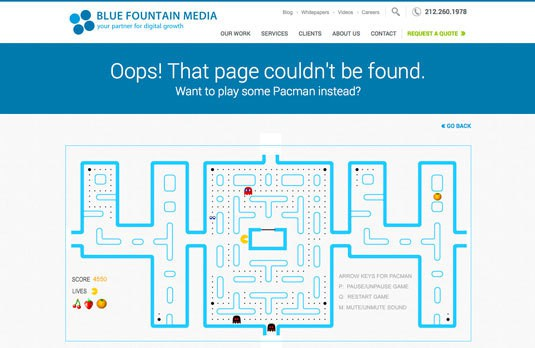 404 error for website optimization