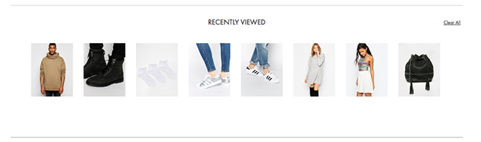 Your Recently Viewed Items, Latest viewed, Previously viewed