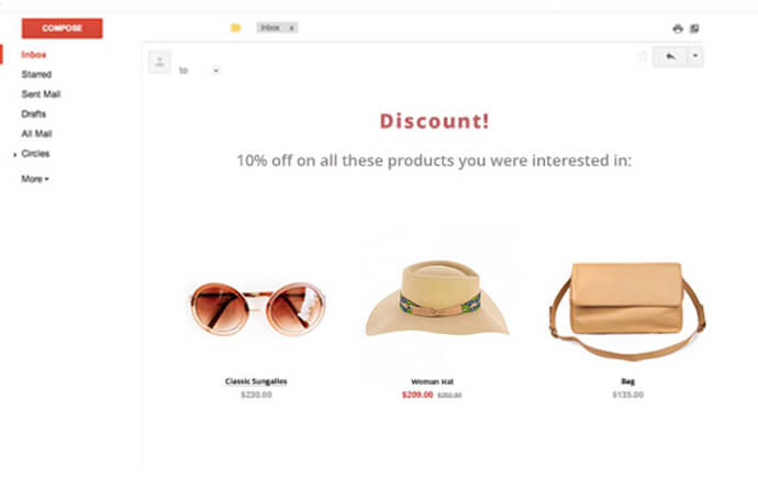 Email Recommendation Example
