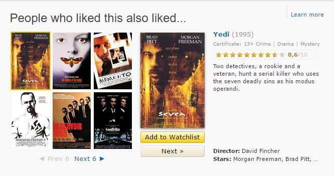 imdb recommendation
