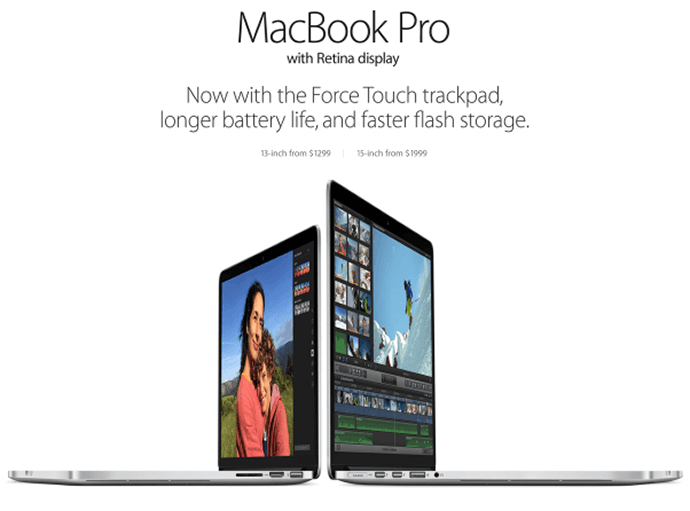 macbook landing page example