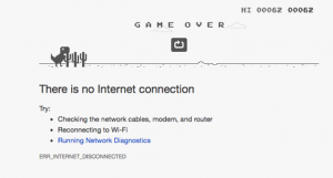 In-browser game on the connectivity error screen